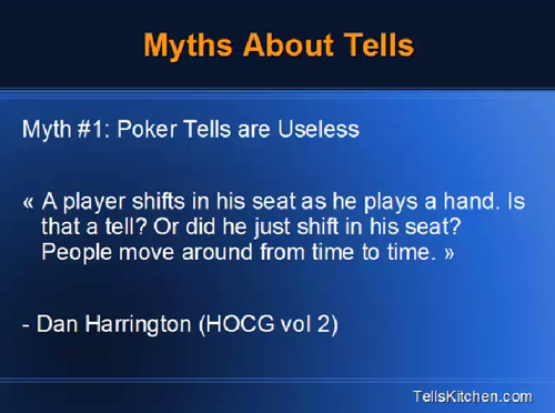 Poker Tells Myths