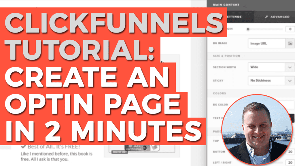 ClickFunnels Tutorial: How To Create a High-Converting Optin Page in 2 Minutes